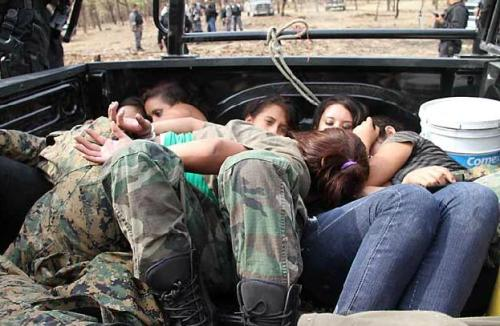 Teenage girls who were arrested while training to become cartel assassins